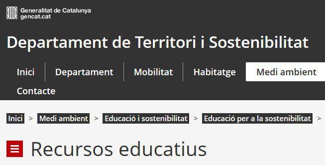 Educació per a la sostenibilitat: recursos educatius