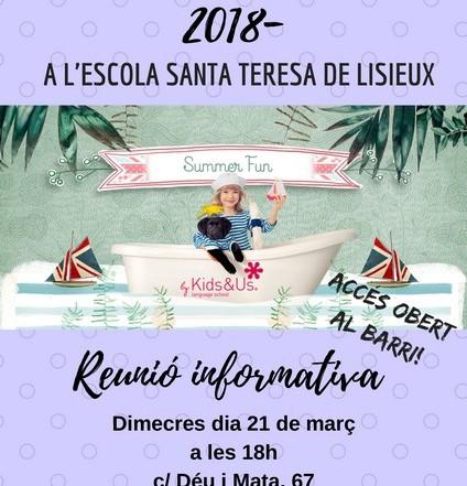 Reunió informativa Casal d'estiu 2018