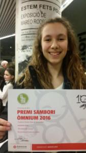 Primer premi Sambori Òmnium 2016 de la demarcació de Barcelona