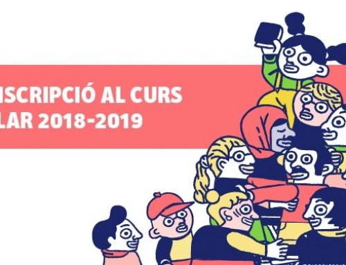Preinscripció i matrícula per al curs 2018-2019