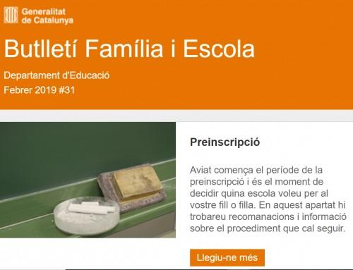 Butlletí Família i Escola #31