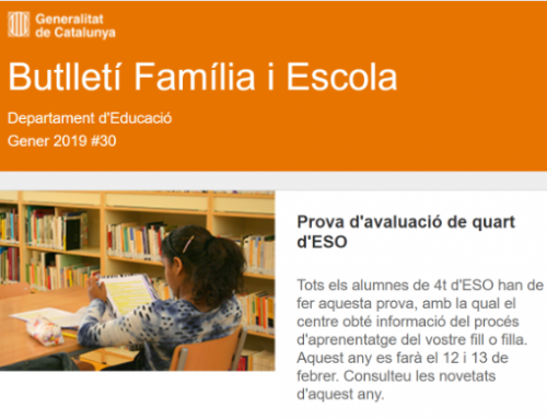 Butlletí Família i Escola #30