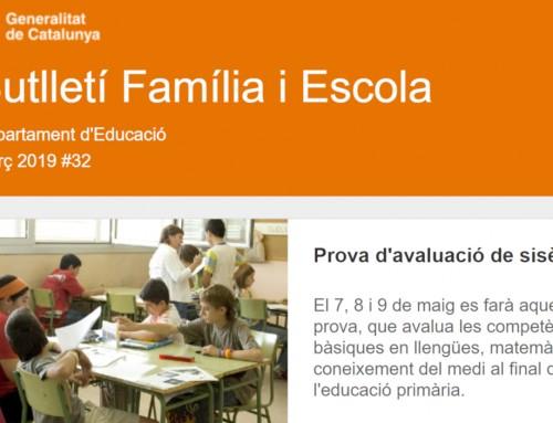 Butlletí Família i Escola #32