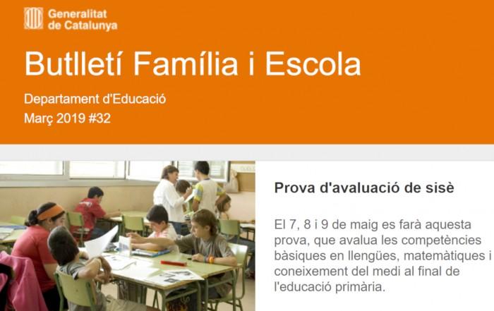 Butlletí Família i Escola, 32