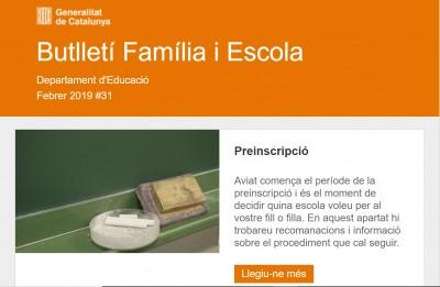 Butlletí Família i Escola 31