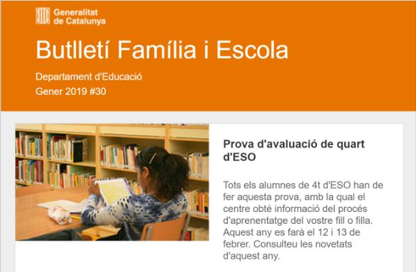 Butlletí Família i Escola